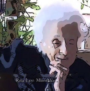 Rita Levi-Montalcini at 101 years old
