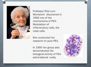 Montalcini explored PEA