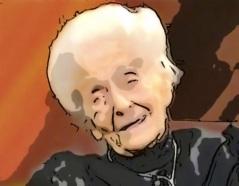 Prof. Rita Levi-Montalcini scoperto nella lavorazione speciale di PEA 1993.