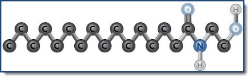 structuurformule van palmitylethanolamide
