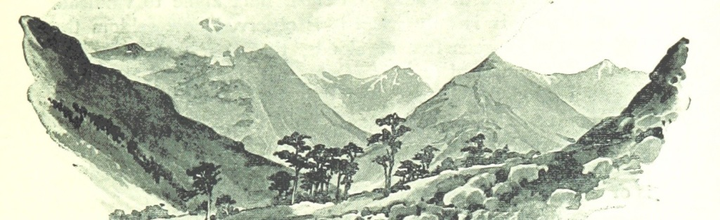 """""""Mountain, Moor and Loch"""" illustrated by pen and pencil, on the route of the West Highland Railway"""